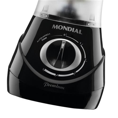 Liquidificador Mondial Premium Due Black L-55 com Filtro e 2 Copos - 600W