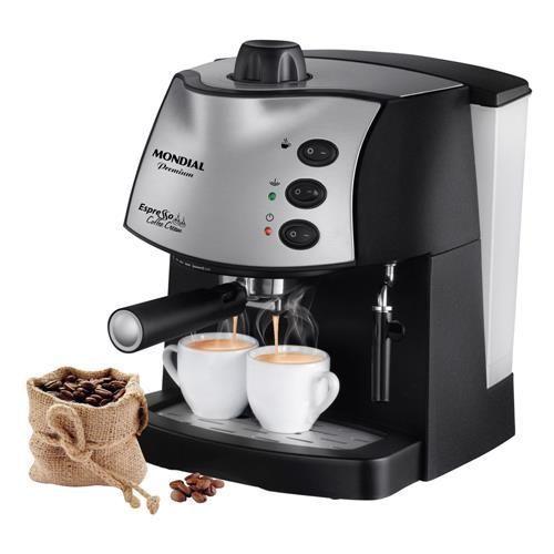 Cafeteira Expresso Mondial Coffee Cream Premium Preto/Prata - 15 Bar