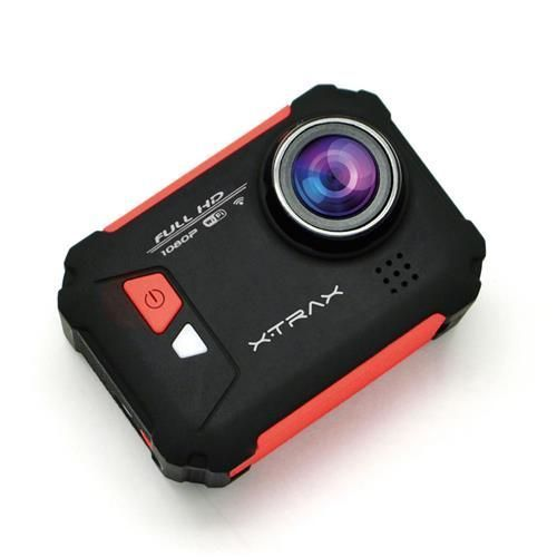 "Câmera e Filmadora XTrax Evo Preta/Vermelha 12MP, LCD 1.5"", Wi-Fi, Case À Prova D'Água e Grava Vídeo Full HD"