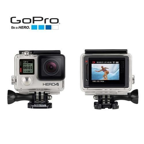 Câmera Digital e Filmadora GoPro Hero4 Silver Edition Adventure CHDHY-401-BR Cinza 12MP, LCD Integrado, Wi-Fi, Bluetooth e Vídeo 4K
