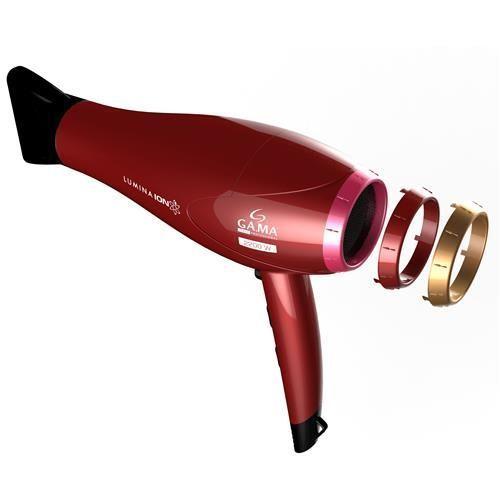 Secador de Cabelos GA.MA Italy Lumina Íon Motor AC Profissional e 3 Temperaturas 2200W – Vermelho