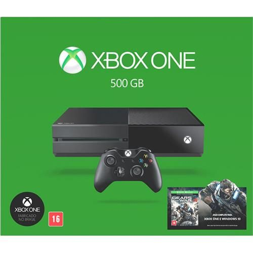 Console Xbox One 500GB - Gears of War 4 (Download) - Preto