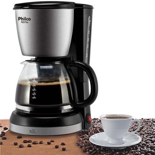 Cafeteira Philco Ph30 Plus com Capacidade de 1,5L - Preto/Aço