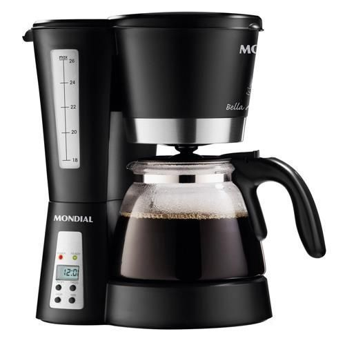 Cafeteira Elétrica Mondial Bella Arome Eletrônica C-14 até 26 cafés - Preta
