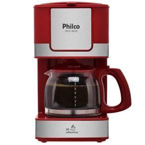 Cafeteira Elétrica Philco PH31 - Vermelho/Aço Escovado