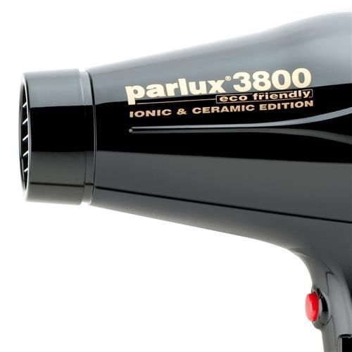Secador de Cabelos Parlux 3800 Ceramic & Ionic Motor Profissional K-Lamination e 4 Temperaturas 2100W – Preto