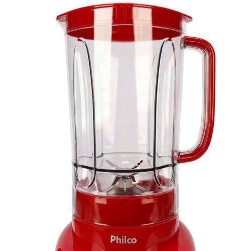 Liquidificador Philco PH900 com 12 Velocidades e 900W - Vermelho