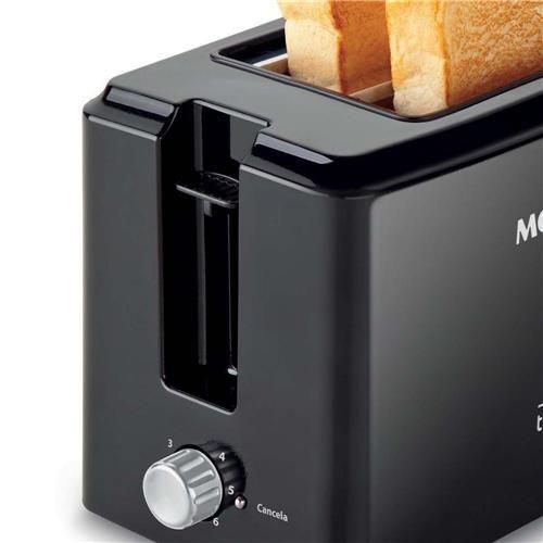Torradeira Toast Due Black Mondial T-05 com 6 Opções de Tostagem - Preta