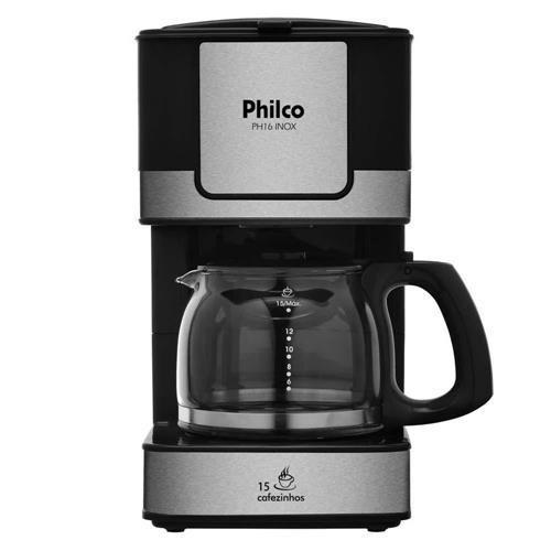 Cafeteira Elétrica Philco PH16 - Preto/Aço Escovado