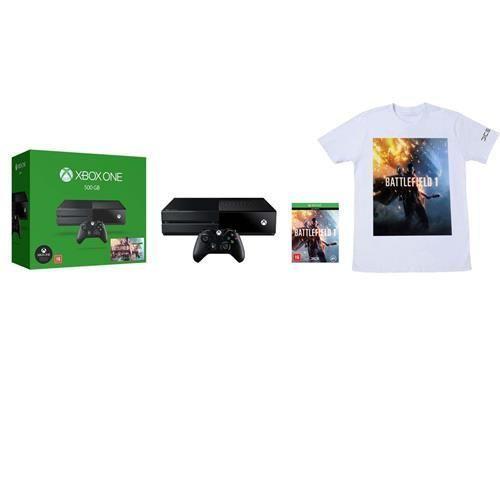 Console Xbox One 500GB - Battlefield 1 (Download) + Camiseta Exclusiva Battlefield 1