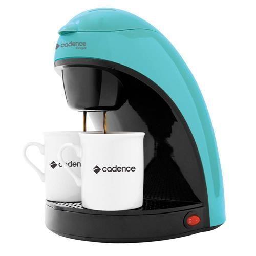 Cafeteira Single Colors Cadence CAF113 Prepara 2 Cafés, com Filtro Permanente e Removível 450W - Azul