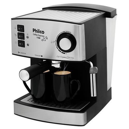 Cafeteira Expresso Philco Coffee Express - Inox - 15 Bar