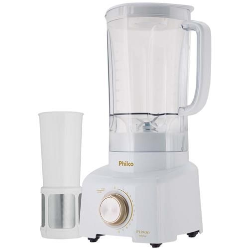 Liquidificador Philco PH900 12 Velocidades e 900W de Potência - Branco/Dourado