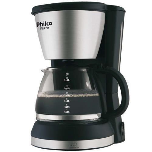 Cafeteira Philco PH14 Plus com Capacidade para 14 Cafés e Potência 550W  – Preto/Escovado