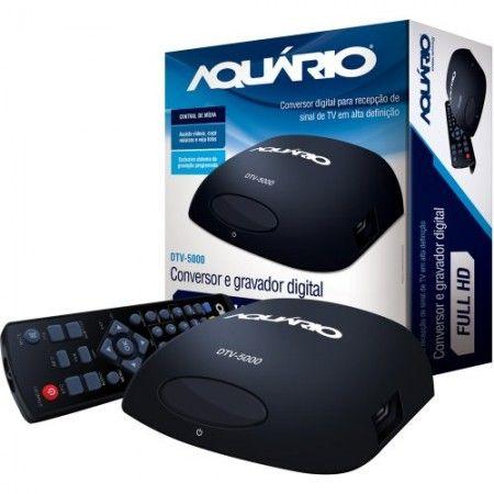 Conversor e Gravador Digital DTV5000 Preto AQUÁRIO