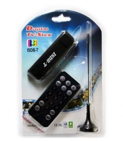 Receptor de TV Digital ISDB-T - USB - PC/NOTEBOOK + Controle Remoto + Antena Portatil