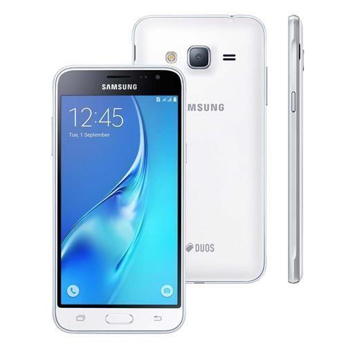 """Smartphone Samsung Galaxy J3 Duos SM-J320M/DS Branco com Dual Chip, Tela 5.0"""", Câmera 8MP, Android 5.1 e Processador Quad Core de 1.5 Ghz"""