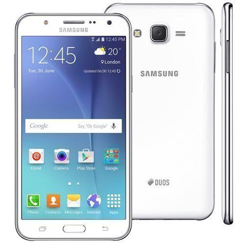 """Smartphone Samsung Galaxy J7 Duos Branco com Dual chip, Tela 5.5"""", 4G, Câmera 13MP, Android 5.1 e Processador Octa Core de 1.5 Ghz"""