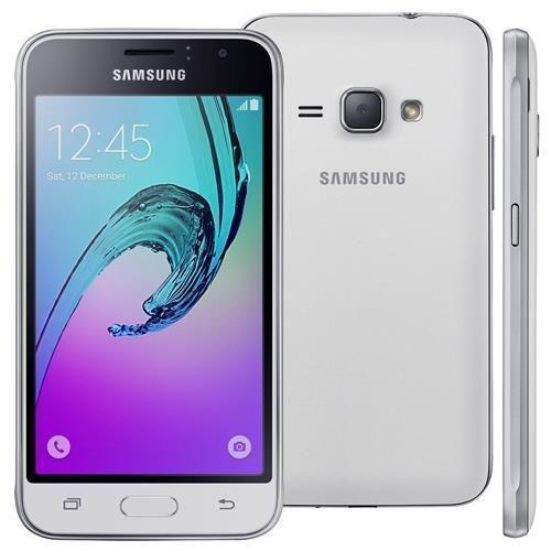 """Smartphone Samsung Galaxy J1 2016 Duos Branco com Dual chip, Tela 4.5"""", 3G, Câm.de 5MP e Frontal de 2MP, Android 5.1 e Processador QuadCore de 1.2 GHz"""