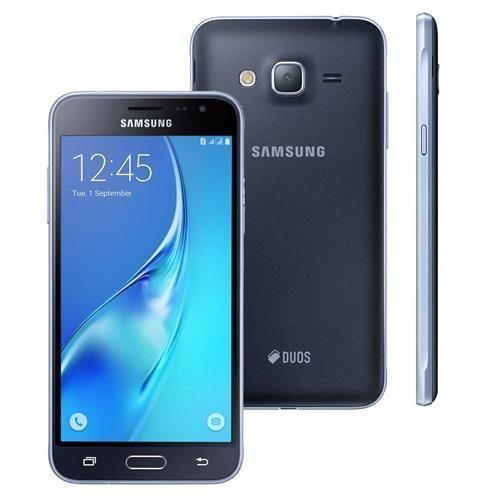 """Smartphone Samsung Galaxy J3 Duos SM-J320M/DS Preto com Dual Chip, Tela 5.0"""", Câmera 8MP, Android 5.1 e Processador Quad Core de 1.5 Ghz"""