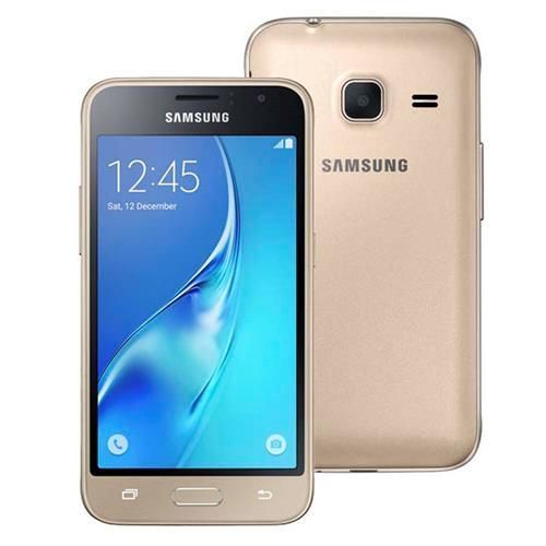 """Smartphone Samsung Galaxy J1 Mini Duos Dourado com Dual Chip, Tela 4.0"""", 3G, Câmera de 5MP, Android 5.1 e Processador Quad Core de 1.2 GHz"""