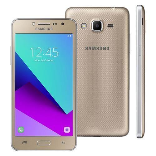 """Smartphone Samsung Galaxy J2 Prime TV Dourado com 8GB, Dual chip, Tela 5"""", TV Digital, 4G, Câmera 8MP, Android 6.0 e Processador Quad Core de 1.4 Ghz"""