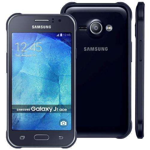 """Smartphone Samsung Galaxy J1 Ace Duos Preto com Dual chip, Tela 4.3"""", 3G, Câmera 5MP, Android 4.4 e Processador Dual Core de 1.2 GHz"""