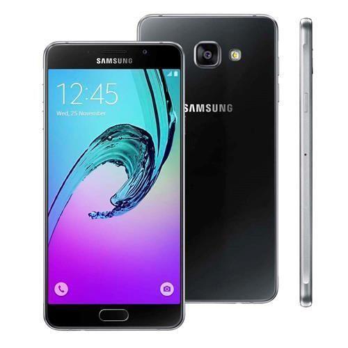 """Smartphone Samsung Galaxy A7 2016 Duos SM-A710M/DS Preto com Dual Chip, Tela 5.5"""", 4G, NFC, Câmera 13MP, Android 5.1 e Processador Octa-Core"""