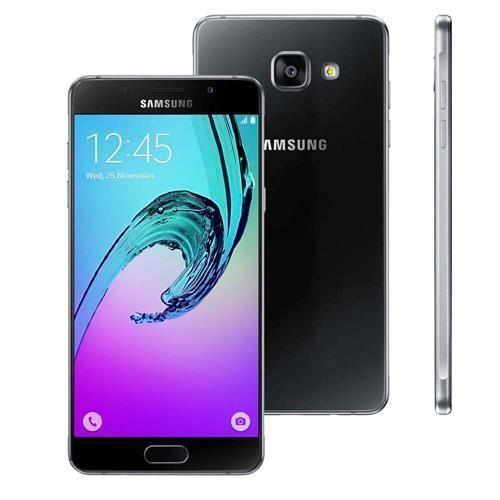 """Smartphone Samsung Galaxy A5 2016 Duos A510M/DS Preto com Dual Chip, Tela 5.2"""", Android 5.1, Câm.13MP e Processador Octa Core 1.6GHz"""