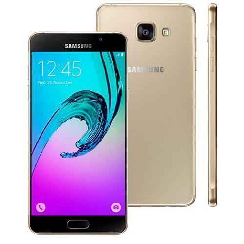 """Smartphone Samsung Galaxy A5 2016 Duos A510M/DS Dourado com Dual Chip, Tela 5.2"""", Câmera 13MP, Android 5.1 e Processador Octa Core 1.6GHz"""