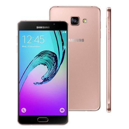 """Novo Smartphone Samsung Galaxy A7 2016 Duos SM-A710M/DS Rose com Dual Chip, Tela 5.5"""", 4G, Android 5.1, Câmera 13MP e Processador Octa Core"""