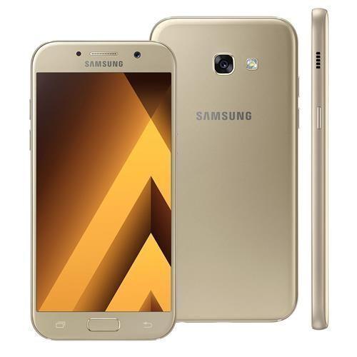 """Smartphone Samsung Galaxy A5 2017 Duos A520F/DS Dourado com Dual Chip, Tela 5.2"""" FHD, 4G, Câmera 16MP, Android 6.0, Processador Octa Core e 3GB RAM"""