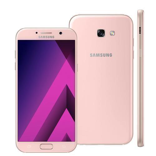"""Smartphone Samsung Galaxy A7 2017 A720F/DS Rosa com 32GB, Dual Chip, Tela 5.7"""", 4G, NFC, Câmera 16MP, Android 6.0, Processador Octa-Core e 3GB RAM"""