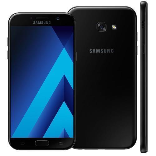 """Smartphone Samsung Galaxy A7 2017 A720F/DS Preto com 32GB, Dual Chip, Tela 5.7"""", 4G, NFC, Câmera 16MP, Android 6.0, Processador Octa-Core e 3GB RAM"""