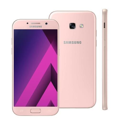 """Smartphone Samsung Galaxy A5 2017 Duos A520F/DS Rosa com Dual Chip, Tela 5.2"""" FHD, 4G, Câmera 16MP, Android 6.0, Processador Octa Core e 3GB RAM"""