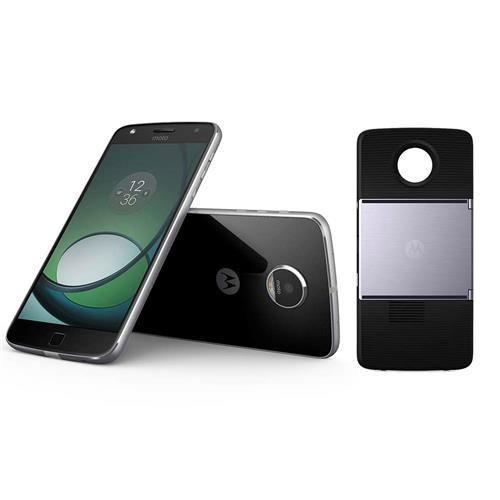 Smartphone Motorola Moto Z Play Projector Edition Grafite com 32GB, Tela de 5.5'', Dual Chip, Câmera 16MP, 4G, Android 6.0, Processador Octa-Core