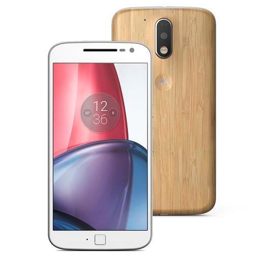 Smartphone Motorola Moto G4 Plus XT1640 Bambu com 32GB, Tela de 5.5'', Dual Chip, Android 6.0, 4G, Câmera 16MP, Processador Octa-Core e 2GB de RAM