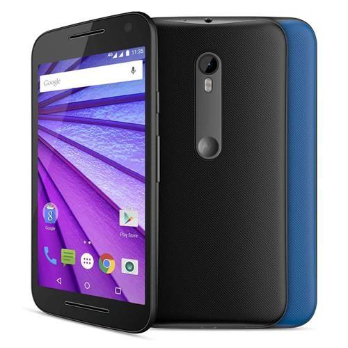 Smartphone Motorola Moto G (3ª Geração) Colors XT1543 Preto 16GB, Tela de 5'', Dual Chip, Android 5.1, 4G, Câmera 13MP e Processador Quad-Core 1.4 GHz