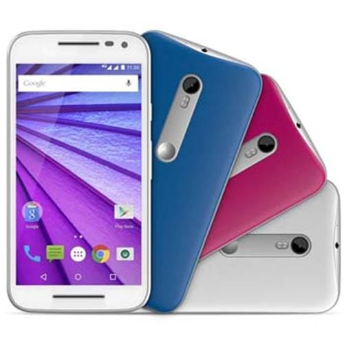 Smartphone Motorola Moto G (3ª Geração) Colors HDTV XT1544 Branco com Tela de 5'', Dual Chip, Android 5.1, 4G, Câmera 13MP e Processador Quad-Core