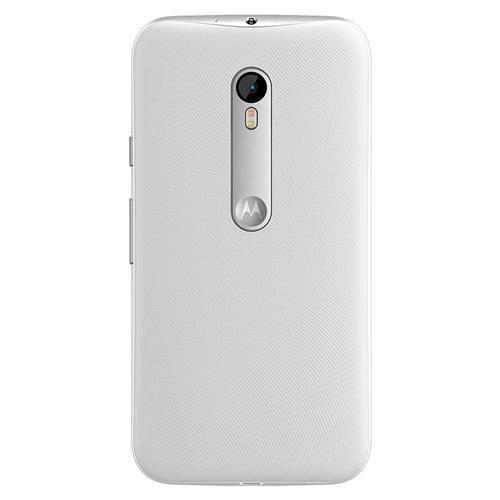 Smartphone Motorola Moto G (3ª Geração) Turbo XT1556 Branco com 16GB, Tela de 5'', Dual Chip, Android 5.1, 4G, Câmera 13MP, Processador Octa-Core