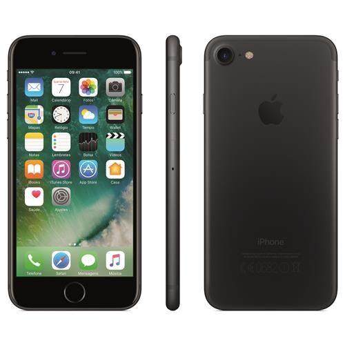 """iPhone 7 Apple com 32GB, Tela Retina HD de 4,7"""" com 3D Touch, iOS 10, Sensor Touch ID, Câmera 12MP, Resistente à Água, Wi-Fi, 4G e NFC - Preto Matte"""