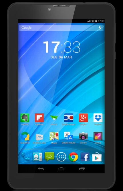 "Tablet Multilaser M7qc Nb223 Preto 7"" Wifi+3G Android 4.4 Kit Kat 8Gb Quad Core, Dual Cam, Dual Chip (Cód: 9354076)"