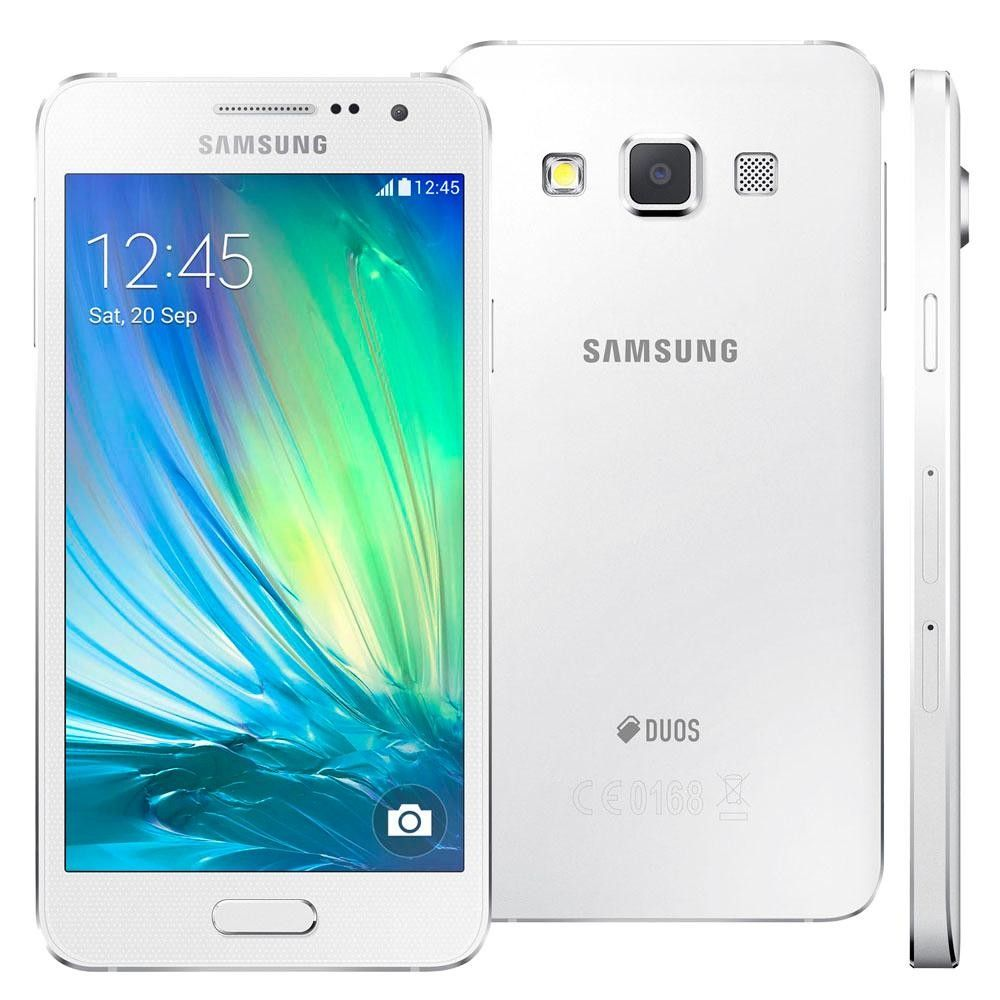 "Samsung Galaxy A3 4G Dourado 4.7"" Android 6.0 Câm 13Mp Quad-Core 1.5Ghz 16Gb (Cód: 9363461)"