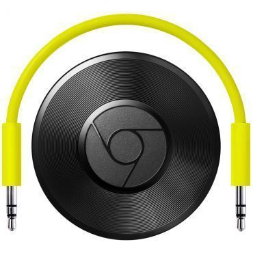 Google Chromecast Audio Preto - Streaming de música Wi-Fi para as caixas de som que você já tem, Compatível com Deezer, Spotify, entre outros
