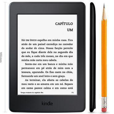 """Kindle Paperwhite AO0456, Tela 6"""" de Alta resolução (300 ppi), 4GB, Wi-Fi, Iluminação Embutida, Até 8 semanas de Bateria - Preto"""
