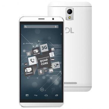 """Tablet DL TabPhone 700 com Função Celular - Tela 7"""", Processador Intel Atom X3 Quad Core, 8GB, Android 5.0, Conexão Wi-fi + 3G, Bluetooth - Branco"""