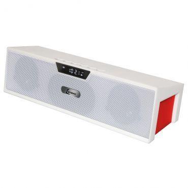 Caixa de Som Bluetooth 5W RMS Portátil LENOXX com Rádio FM estéreo, MP3, Bateria Interna Recarregavel, Entrada Micro SD, USB e Auxiliar - BT510 BRANCO