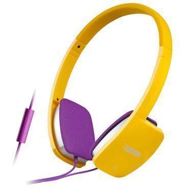 Headphone com Microfone para Smartphones e Notebooks Edifier, Haste Flexível, Alta Qualidade de Áudio e Almofadas Confortáveis - H640P Amarelo