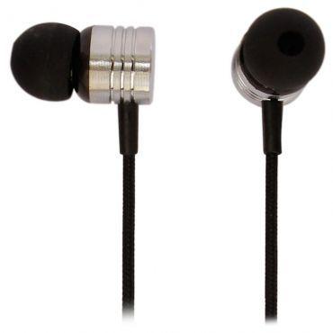 Earphone com microfone Maxprint, cabo revestido em nylon mash, Sons límpidos, cristalinos e de alta potência - Neon Black