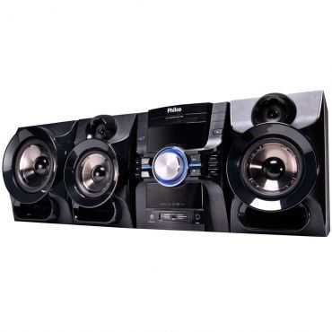 Mini System 1100W - Philco com Rádio FM, Entrada USB, Saída HDMI, DVD, Karaokê, MP3 e MP4 - PH1100